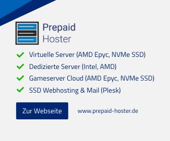 Prepaid Hoster Werbe-Banner
